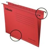 Hengemappe Classic Std A4 Rød Pakke/25