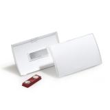 Navneskilt Clic Fold magnet 90x54 mm, 10 stk.