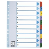 Register Esselte Mylar A4 1-10 flerfarget