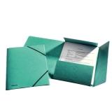 Strikkmappe m/3 klaffer Kartong A4 Grønn