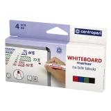 Whiteboard Marker Centropen skrå spiss, 4 stk.