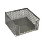 Blokkeske i netting 95x95mm sølv