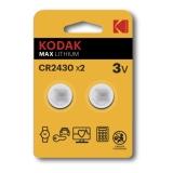 Kodak Max lithium CR2430 2-pack