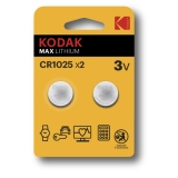 Kodak Max lithium CR1025 2-pack