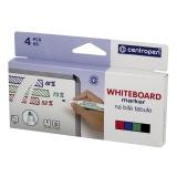 Whiteboard Centropen rund 4 färger/fp