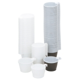 Kaffekopp plast 21cl vit, 50 st