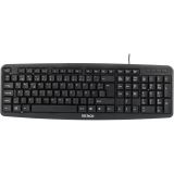 Deltaco tastatur, nordisk layout, USB, sort