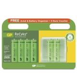 GP ReCyko 4+2 st AA Batterier