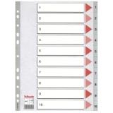 Register Esselte PP A4 1-10 grå