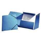 Strikkmappe m/3 klaffer Kartong A4 Blå